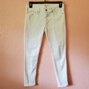 Levi's 711 Skinny White Denim Jeans